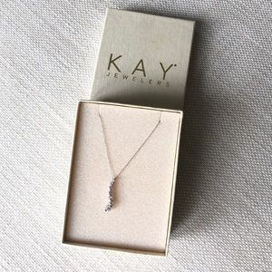 10k white gold JOURNEY necklace NEW, Kay Jewelers